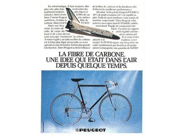 Bicicletas y motos – Artículo sobre la primera bicicleta de carbono de Peugeot